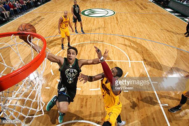 Malcolm Brogdon of the Milwaukee Bucks goes for the lay up during the game against the Cleveland Cavaliers on December 20 2016 at the BMO Harris...