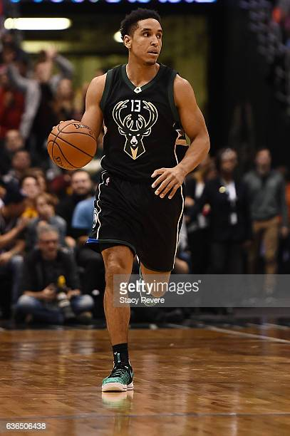 Malcolm Brogdon of the Milwaukee Bucks handles the ball during a game against the Cleveland Cavaliers at BMO Harris Bradley Center on December 20...