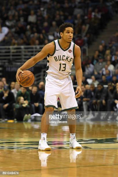 Malcolm Brogdon of the Milwaukee Bucks handles the ball during a game against the Utah Jazz at the Bradley Center on December 9 2017 in Milwaukee...