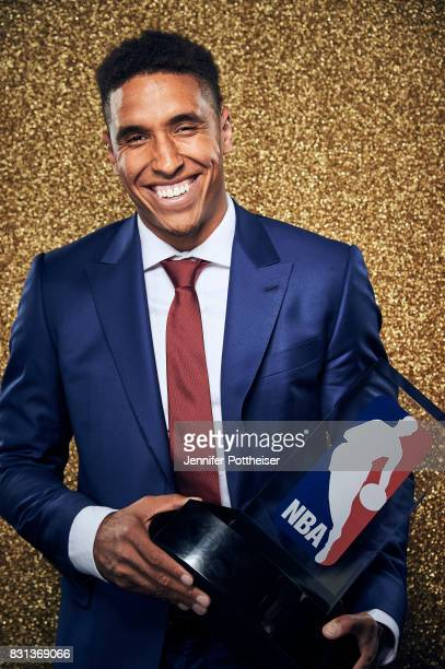 Malcolm Brogdon of the Milwaukee Bucks poses for a portrait at the NBA Awards Show on June 26 2017 at Basketball City at Pier 36 in New York City New...