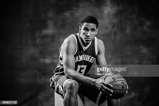Malcolm Brogdon of the Milwaukee Bucks poses for a portrait during the 2016 NBA Rookie Photoshoot at Madison Square Garden Training Center on August...