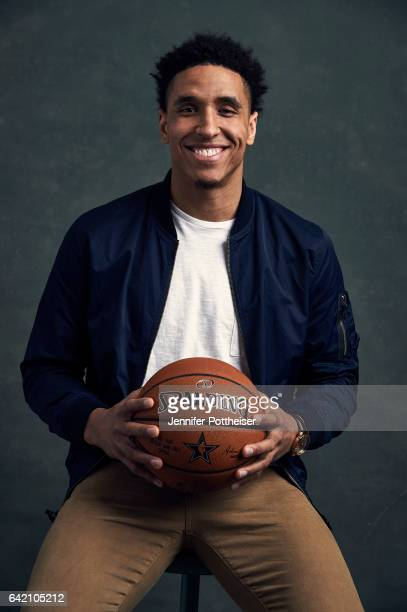 Malcolm Brogdon of the Milwaukee Bucks poses for portraits during the NBAE Circuit as part of 2017 AllStar Weekend at the RitzCarlton Hotel on...
