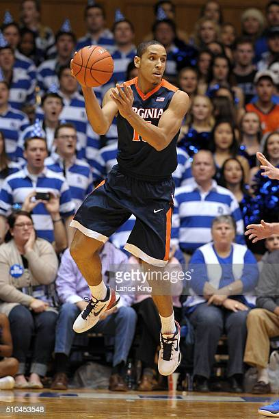 Malcolm Brogdon of the Virginia Cavaliers in action against the Duke Blue Devils at Cameron Indoor Stadium on February 13 2016 in Durham North...