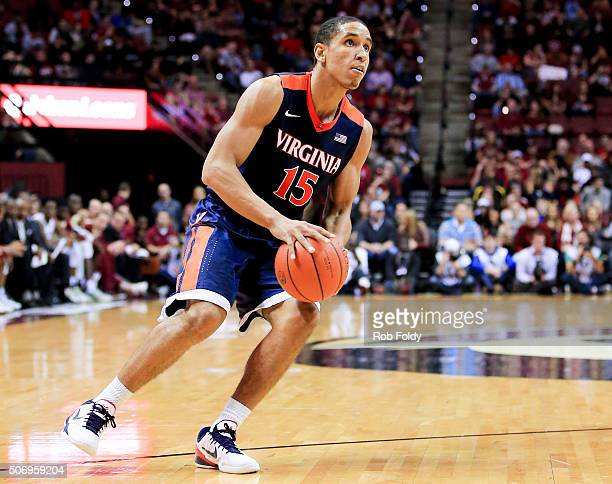 Malcolm Brogdon of the Virginia Cavaliers in action during the game against the Virginia Cavaliers at the Donald L Tucker Center on January 17 2016...