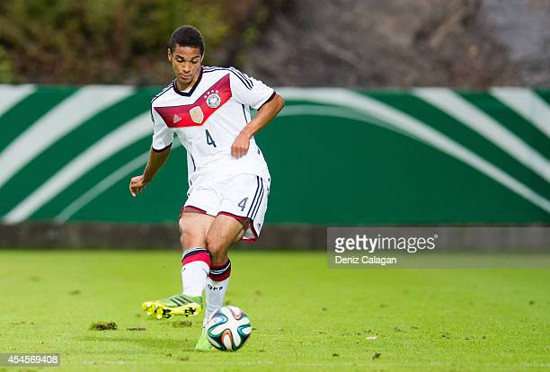 Malcolm Cacutalua of Germany in action during the international friendly match between U20 Germany and U20 Italy on September 3 2014 in Elversberg...