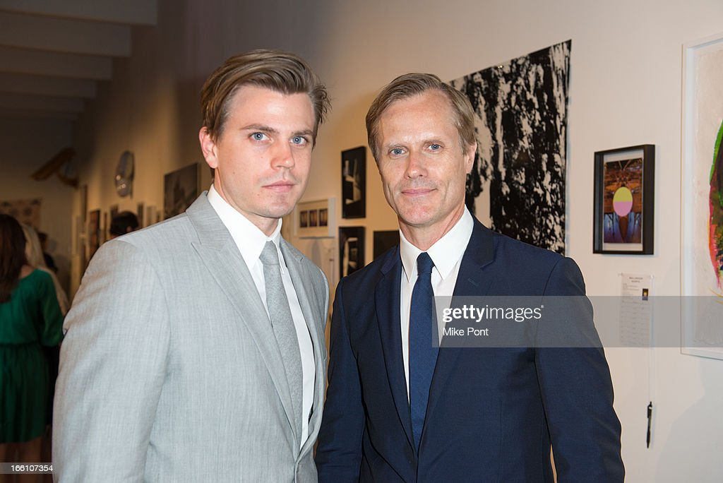 Malcolm Carfrae (R) attends Ballroom Marfa 10th Year Celebration at Center 548 on April 8, 2013 in New York City.