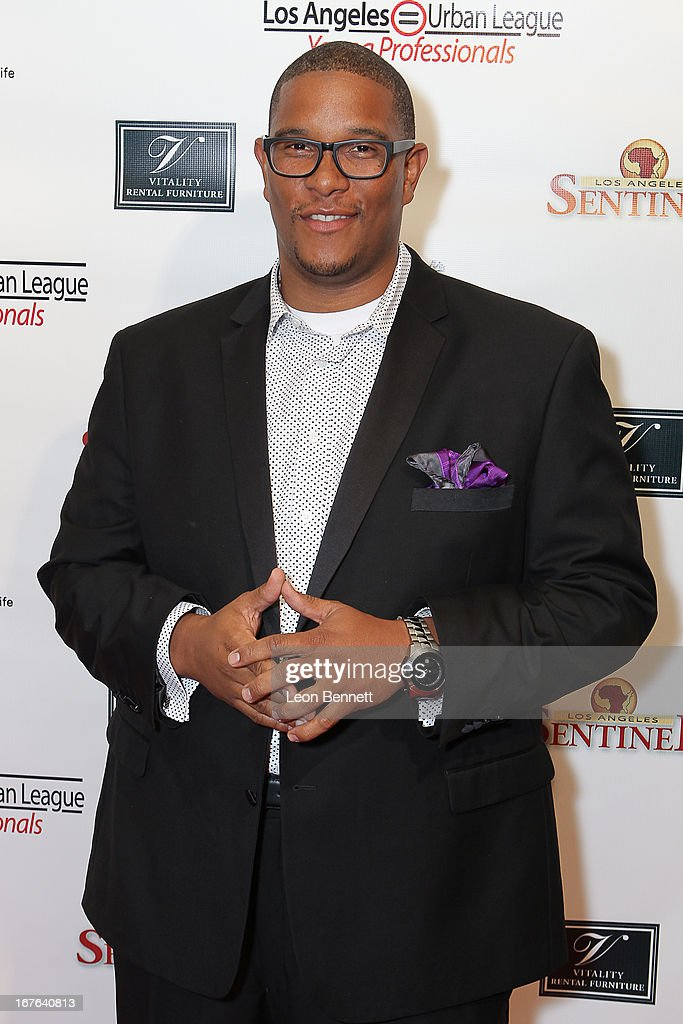 Malcolm Darrell arrived at the LA Urban League Young Professionals 3rd Annual To The Nines After Party at The Beverly Hilton Hotel on April 26, 2013 in Beverly Hills, California.