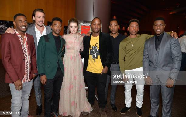 Malcolm David Kelley Ben O'Toole Algee Smith Kaitlyn Dever Leon Thomas Tyler James Williams Jacob Latimore and John Boyega attend a special screening...