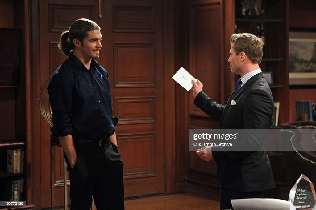 "'Malcolm Freburg' "" Malcolm Freburg (SURVIVOR: CARAMOAN ""- FANS VS. FAVORITES, left, with Jacob Young (Rick Forrester) makes his daytime television debut on THE BOLD AND THE BEAUTIFUL, Wednesday, Feb. 13 on the CBS Television Network."
