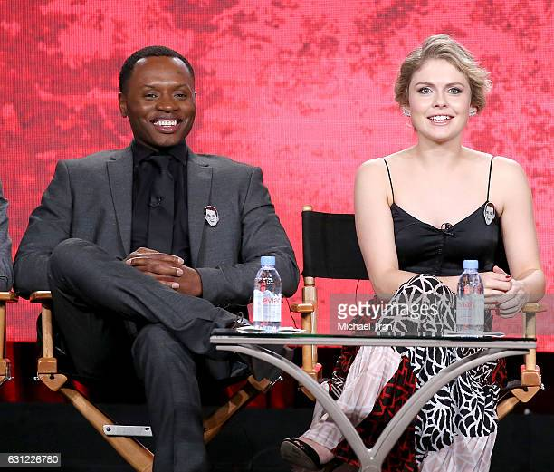 Malcolm Goodwin and Rose McIver for the 'iZombie' television show speak onstage during the 2017 Winter TCA Tour Panels CW held at The Langham...
