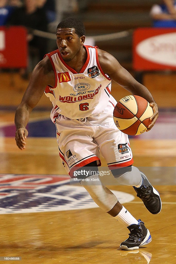 Malcolm Grant of Wollongong runs with the ball during the round 17 NBL match between the Adelaide 36ers and the Wollongong Hawks at Adelaide Arena on February 1, 2013 in Adelaide, Australia.