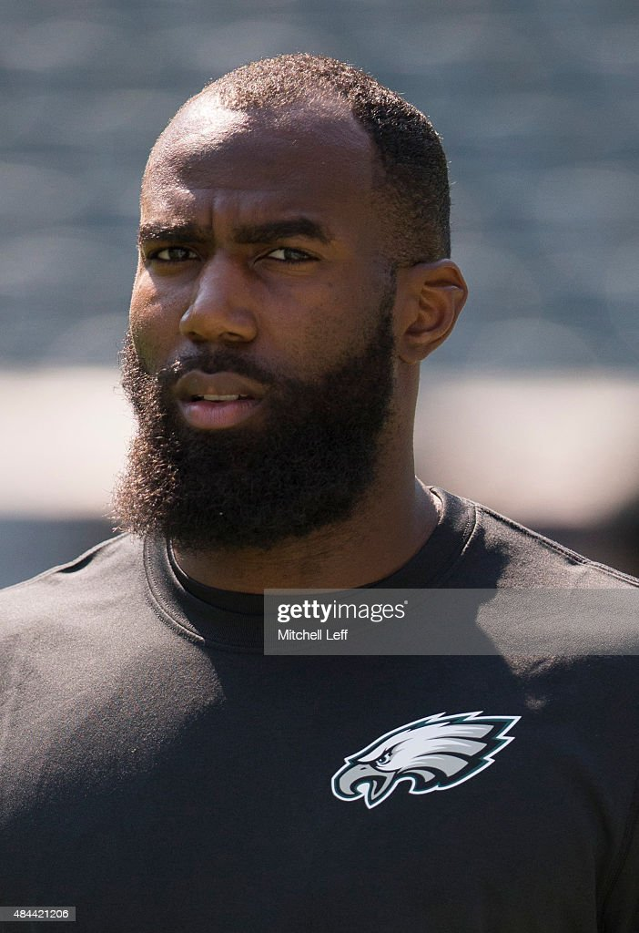 Malcolm Jenkins of the Philadelphia Eagles looks on prior to the game against the Indianapolis Colts on August 16 2015 at Lincoln Financial Field in...