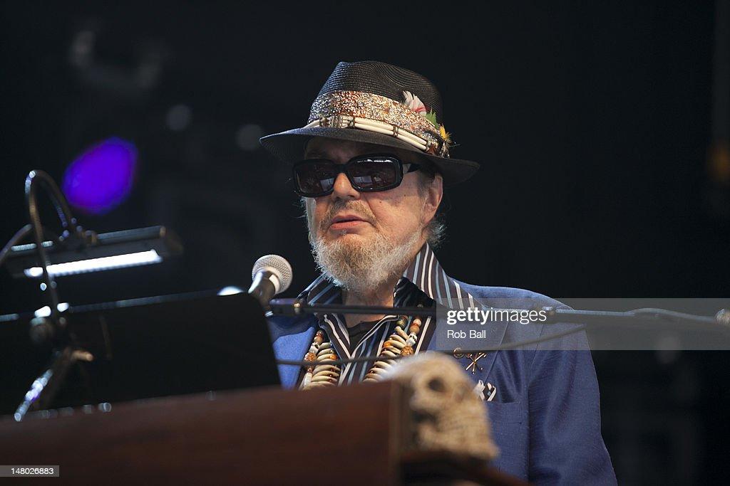Malcolm John Rebennack aka Dr. John performs on day four of Roskilde Festival on July 8, 2012 in Roskilde, Denmark.