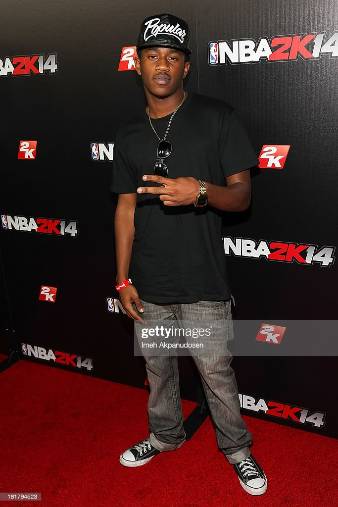 Malcolm Kelly attends the premiere party for the NBA2K14 video game at Greystone Mansion on September 24, 2013 in Beverly Hills, California.
