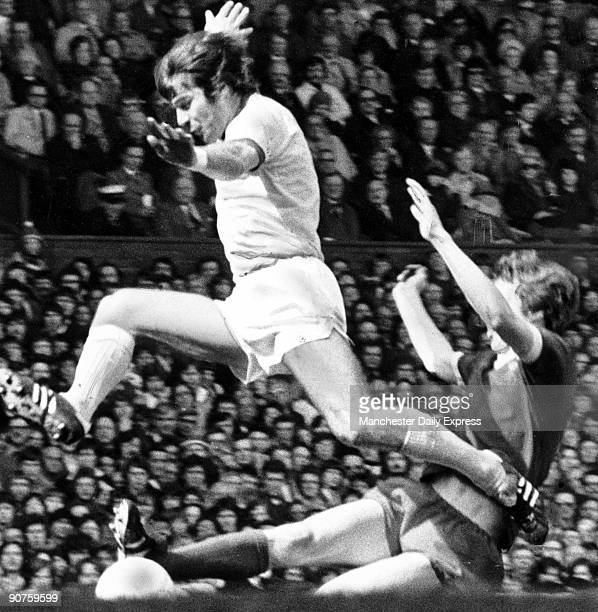 Malcolm McDonald is foiled by Joey Jones of Liverpool