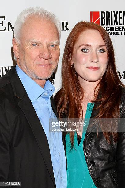 Malcolm McDowell and Paige Howard arrive to the 'The Employer' Los Angeles Premiere at Regent Showcase Theatre on March 6 2012 in West Hollywood...