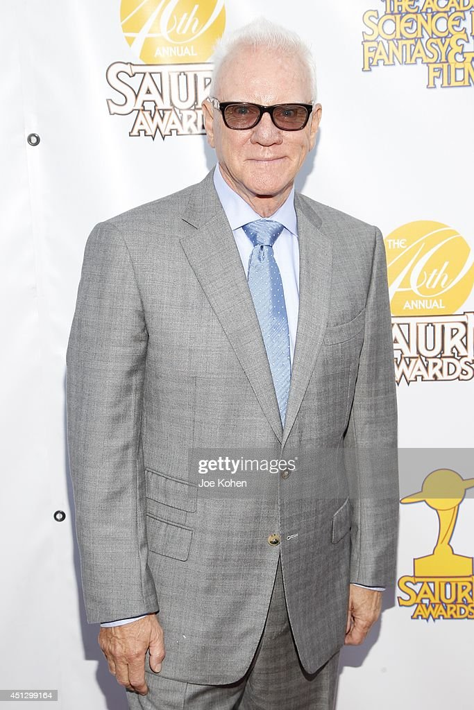 <a gi-track='captionPersonalityLinkClicked' href=/galleries/search?phrase=Malcolm+McDowell+-+Actor&family=editorial&specificpeople=221446 ng-click='$event.stopPropagation()'>Malcolm McDowell</a> attends the 40th Annual Saturn Awards at The Castaway on June 26, 2014 in Burbank, California.