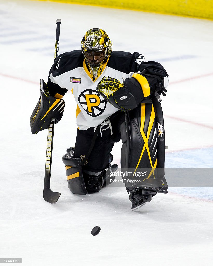 Malcolm Subban #47 of the Providence Bruins warms up before an American Hockey League game against the Springfield Falcons at the Dunkin' Donuts Center on November 1, 2015 in Providence, Rhode Island.