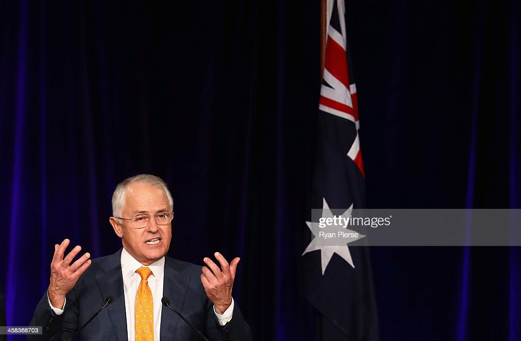 Malcolm Turnbull greets Liberal party supporters at Sofitel Wentworth on July 2, 2016 in Sydney, Australia. With results too close to call after a marathon eight-week campaign, no outright winner was able to be announced.