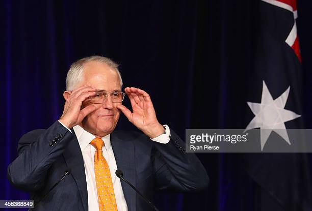 Malcolm Turnbull greets Liberal party supporters at Sofitel Wentworth on July 2 2016 in Sydney Australia With results too close to call after a...