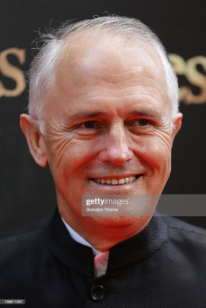 Malcolm Turnbull walks the red carpet during the Australian premiere of 'Les Miserables' at the State Theatre on December 21, 2012 in Sydney, Australia.