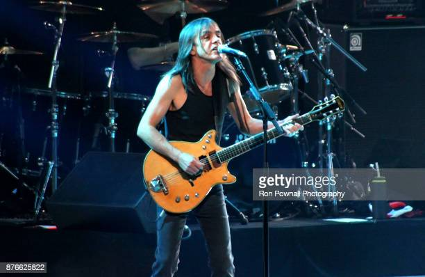 Malcolm Young AC/DC performs at the TD Boston Garden November 9 2008