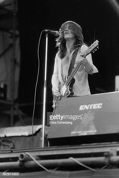 Malcolm Young of AC/DC performs on stage Reading Festival Reading United Kingdom 29th August 1976