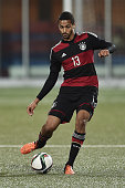 Malcom Cacutalua of Germany controls the ball during the 2017 UEFA European U21 Championships Qualifier between U21 Faroe Islands and U21 Germany at...
