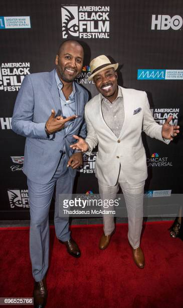 Malcom Lee and Will Packer attend 2017 American Black Film Festival on June 14 2017 in Miami Florida