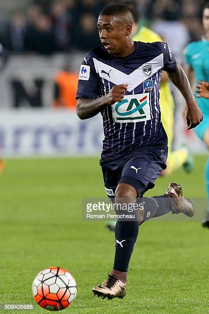 Malcom Silva De Oliveira for FC Girondins de Bordeaux in action during the French Cup match between FC Girondins de Bordeaux and FC Nantes at Stade...
