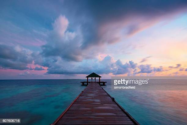 Maldives Seascape At Dawn