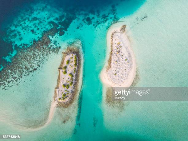 Maldives South Ari Atoll Islets Aerial View