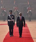 IND: Ceremonial Reception Of Maldivian President Ibrahim Mohamed Solih