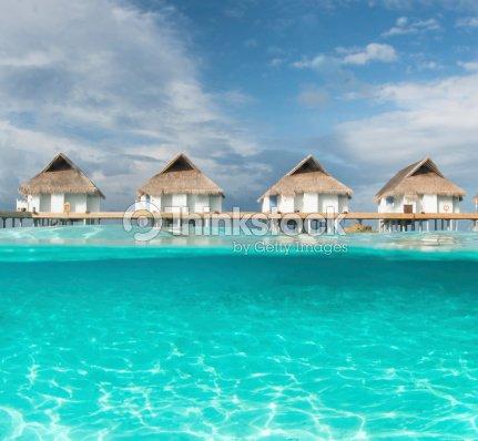 Les bungalows sur pilotis aux maldives la moiti de leau - Maison sur pilotis maldives ...