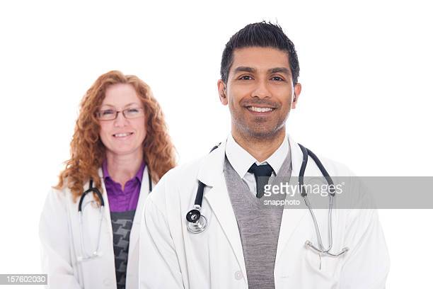 Male & Female Medical Professionals Standing Together