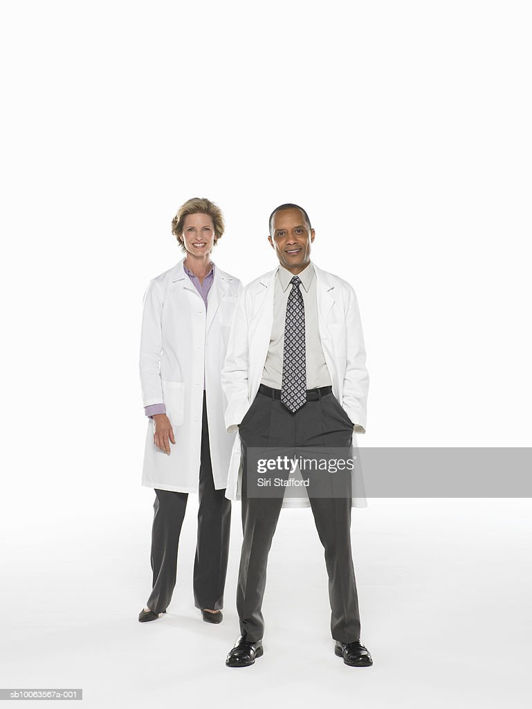 Male and female doctor, portrait : Stock Photo