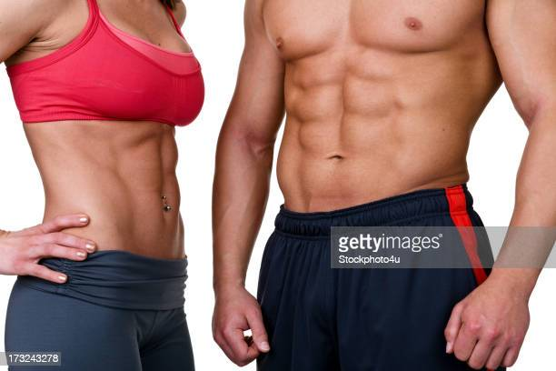 Male and female with 6 pack abs