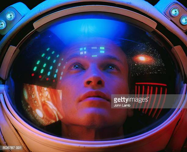 Male astronaut, close-up