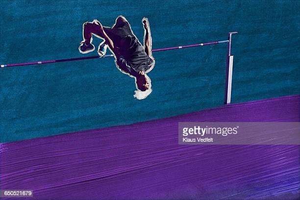 Male athlete doing highjump
