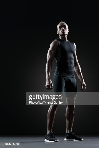 Male athlete, portrait