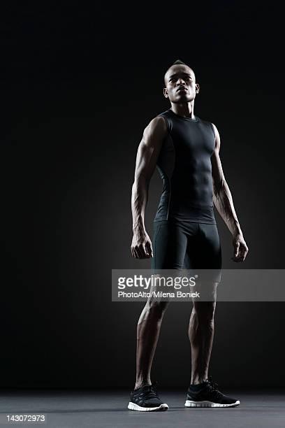 Male athlete, portrait