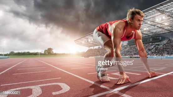 Male Athlete Ready to Run