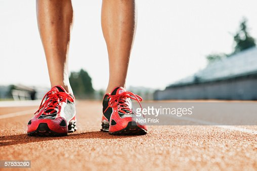 Male athlete's shoes : Stock Photo