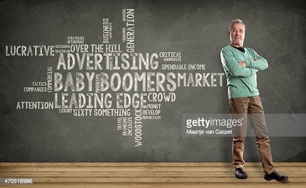 Male Baby Boomer - Marketing Word cloud on Blackboard