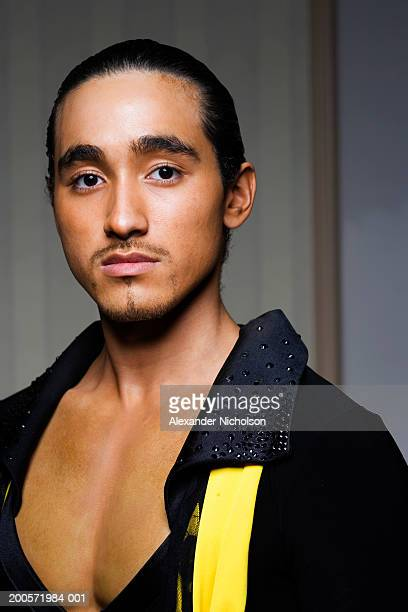Male ballroom dancer, close-up, portrait