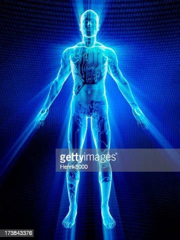 Männliche Körper bedeckt und elektronischen Zirkeltraining