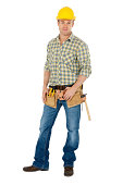 Male Carpenter Wearing Tool Belt