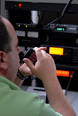 This is an  FCC licensed emergency communications operator who was participating in a federal homeland security drill. The operator is responsible for the communication between the military secured li
