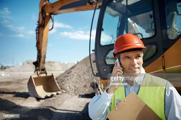 Male construction worker at site