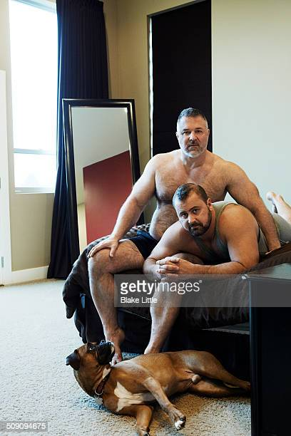 Male Couple with Boxer Dog